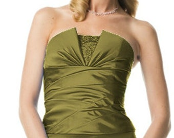 David's Bridal Fern Green Gown