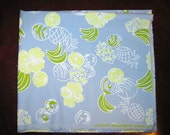 Lilly Pulitzer fruit fabric blue   / Sugartown Spring  2003