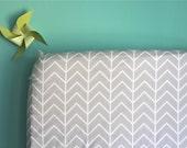 Crib Sheet Gray Chevron. Fitted Crib Sheet. Baby Bedding. Crib Bedding. Minky Crib Sheet. Crib Sheets. Gray Crib Sheet.