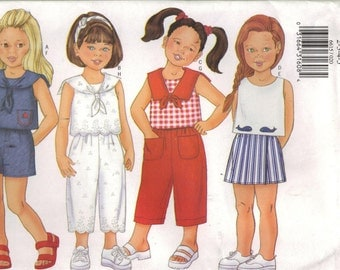 Butterick Sewing Pattern 6615 - Children's Top, Pants, Shorts (2-5, 6-8)