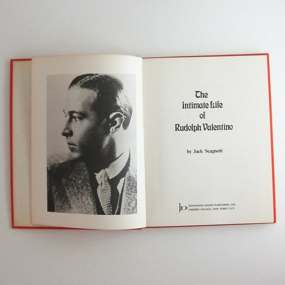 The Intimate Life of Rudolph Valentino - Biography with Photographs - Vintage Red  Hardcover Book - Hollywood Silent Film Actor Sex Symbol