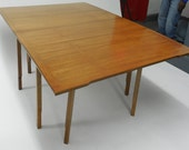 Exceptional Drop Leaf Dining Table with Expansion Leaves by JOHN STUART c1960