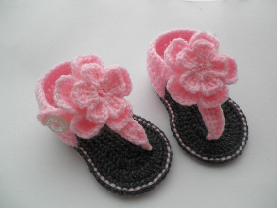 Crochet baby sandals baby gladiator sandals baby by ...