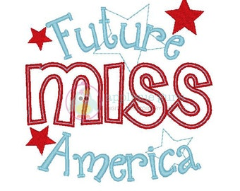 Future Miss America -- Machine Embroidery Design