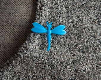 Dragonfly Brooch Blue Fairy Pin
