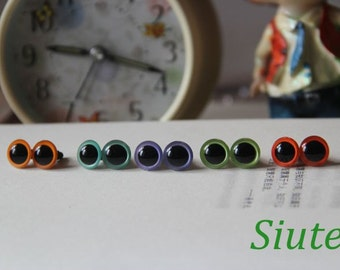 5pairs 8mm(9mm 10mm 12mm 15mm) Plastic Safety eyes for Amigurumi
