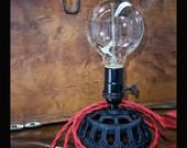 Black Iron Edison Lamp - Steampunk Light - Desk Lamp - Table Light - Industrial Light - Desk Light