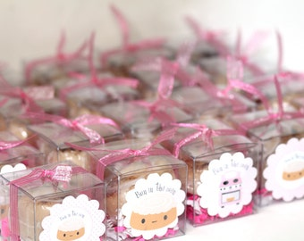 Cinnamon Bun Baby Shower Soap - Baby Shower Party Favors - Bun in the oven - 25 Soap Favors