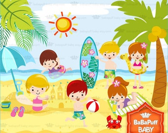 Summer Beach Set 1 ---- Personal and Small Commercial Use ---- BB 0352