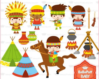 Native American Clip Art Set 1 ---- Personal and Small Commercial Use ---- BB 0441