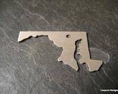 Maryland Shape Metal Stamping Blank / Hand Stamp Shape Disc / Handstamping Supply / Custom Design Blank