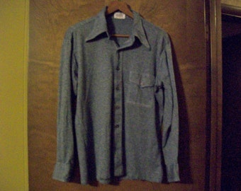 "Vintage Men's Leisure ""Swinger"" Shirt with Long Pointed Color from the 1070's"