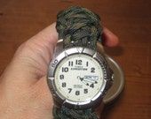 550 Paracord Survival Timex Watch- US Made- King Cobra Custom Color- US Made