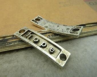 20PCS antique silver 10x36mm  hope bracelet connector-  Wc5021