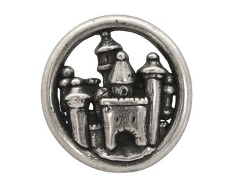 Nicky Epstein Carcassone Castle 1.25 inch ( 33 mm ) Metal Button