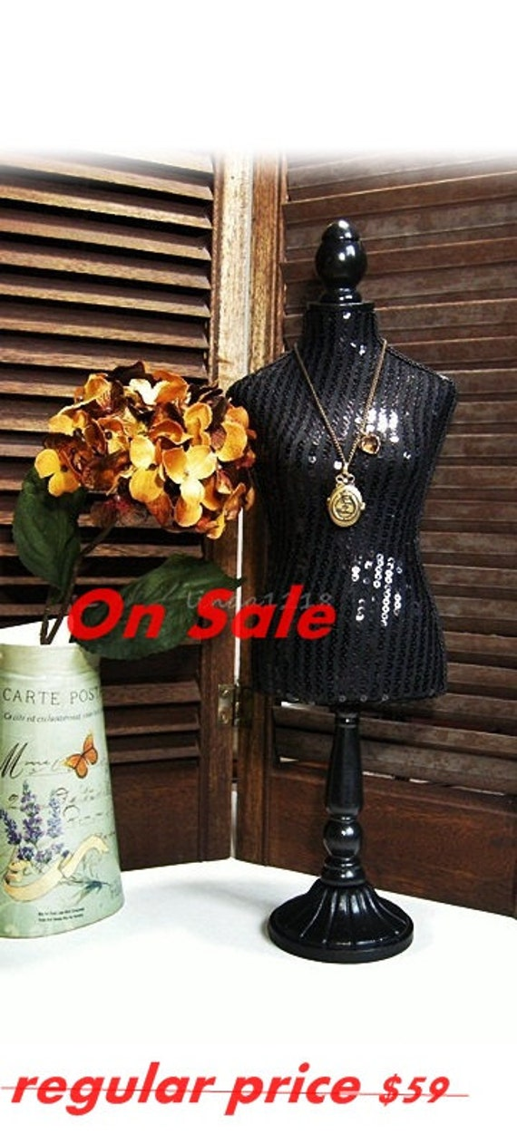 Black gorgeous jewelry table display Dress Form Mannequin
