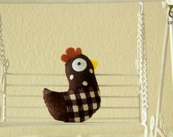 Chicken Plush, chicken doll, hen, animal doll, animal plush, animal toy, brown, rooster, soft, baby, small, little, kid, children, boy, girl