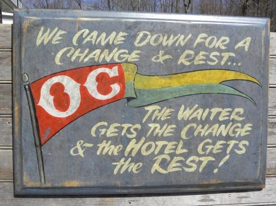 Ocean City Beach Sign, wooden,hand painted D OC4