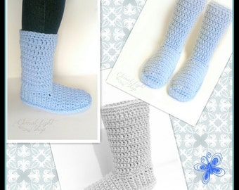 ANY COLOR(S) Crochet Boots V1