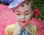 Vintage Goldscheider Bust 1940s 40s Fourties 1950s 50s Fifties Vienna Everlast Head Pierre