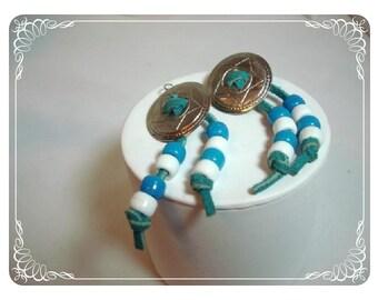 Western Style Earrings - Vintage Concho Pierced E467a-04081200