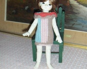 Doll Clothes BJD Yosd Crochet Dress handmade Free Shipping 48 contiguous States
