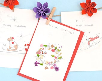 Holiday Watercolor Greeting Cards