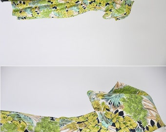 vintage 30s tree print dress/ 30s novelty print dress/ tree house hideout