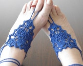 dark blue crochet Lace barefoot Sandals, Gypsy, Yoga, Hand Crochet,Victorian, Sexy, Graduation day,Gothic, Lolit