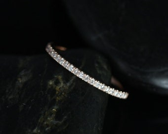 14kt Matching Band to Tabitha 7x5, 8x5, 9x6mm/Lisette/Carrie/Sasha/8 or 9mm Kubian Diamonds HALFWAY Eternity Band (Other Metals Available)