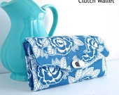 The Necessary Clutch Wallet  Sewing Pattern:  A Large wallet with card slots and room for your Cell Phone