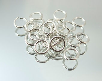 6mm Silver Plated Jump Rings #144-1008