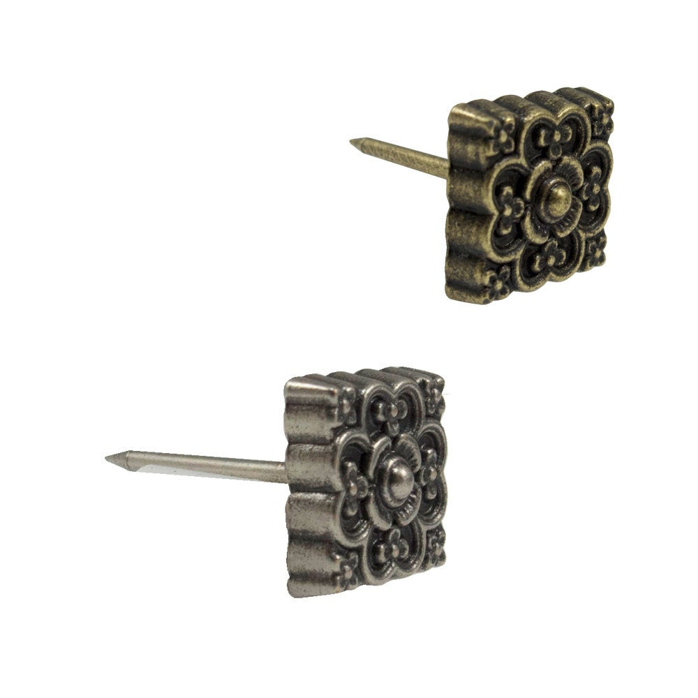 Square Floral Upholstery Tacks 1 2 Leather Tacks 10 Pack