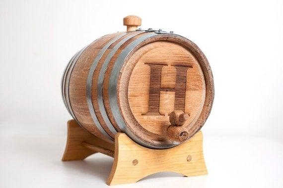 3 Liter Engraved Bourbon Barrel: great gift for men