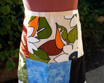 Wrap Around Patch Work Apron - Very Mod and Colorful