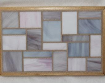 Purple and Pink Glass Mosaic Trivet