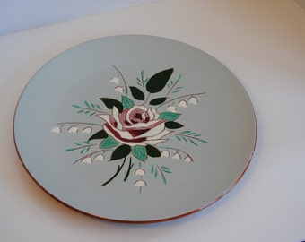 "Wonderful Elegant Stangl Pottery Bella Rosa Patterned 12"" Charger Platter"