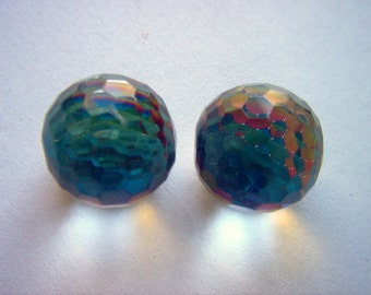 Vintage Fire Ball Plastic Cabochon Flat Backed 18mm   # I 12