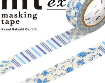 MT Washi Masking Deco Tape Flower Blue Design