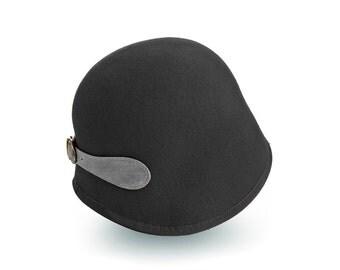 Black Classic Cloche Hat For Women ,Georgia cloche