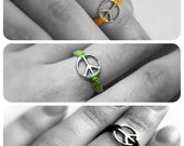 Peace Hemp Ring: Pick your Color and Size 3 to 12