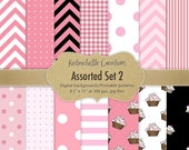 Assorted Pink, White and Black Digital Patterns/Printables