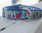 "Pearl's Flowers 1"" Martingale Collar"