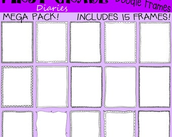 Oodles of Doodle Frames Digital Borders Mega Pack -- Buy 2 GET 1 FREE