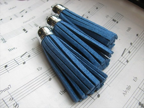 Tassles- Blue- Set of 4