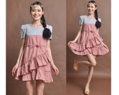 linen maxi dress--tutu dress irregular dress mini dress