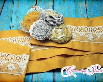 Custom Sash, Fabric Flower Belt, Fabric Flower Sash, Pick Your Color, Women's Fashion Belt, Wedding Sash, Bridal Sash, Decorative Sash