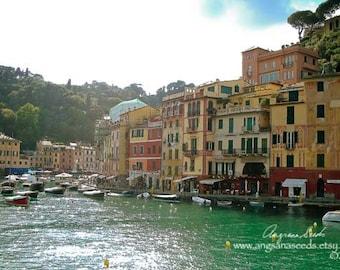 Portofino travel photograph Ligurian coast photo Italy travel photo Italian riviera image summer holiday wall decor gift under 50