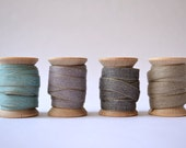 French Linen Sewing Tape/Ribbon on Wooden Spool