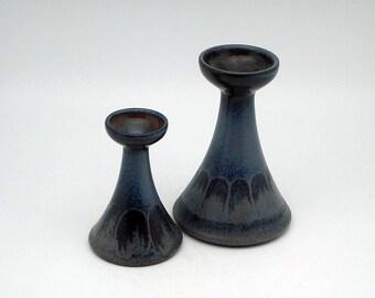 Set of two Mid Century Modern candleholders by KMK (Kermamik Manufaktur Kupfermühle)